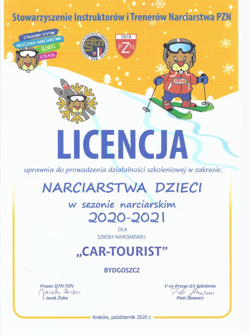Licencja dzieci 2020/2021 - Cartourist Bydgoszcz