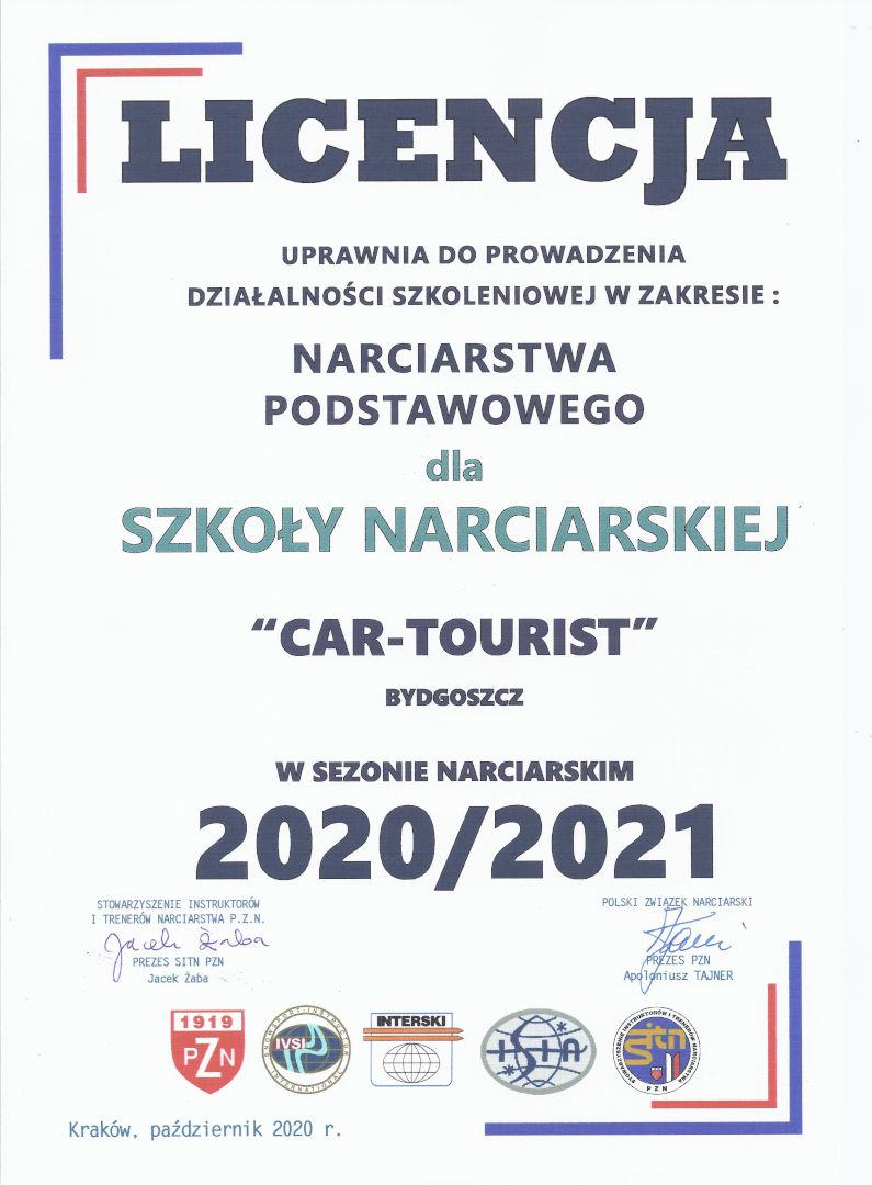 Licencja Cartourist 2020/2021